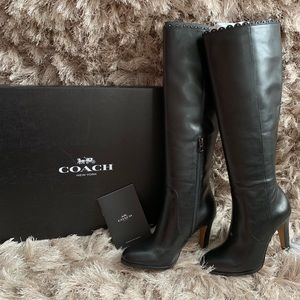 COACH Jade Black Boots
